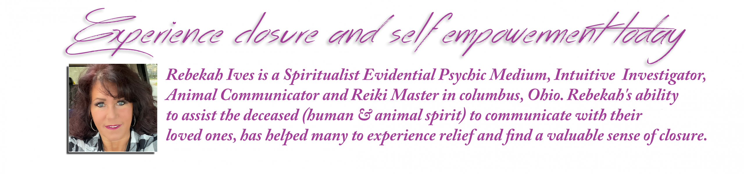 Rebekah Lee Ives Psychic Medium Columbus Ohio
